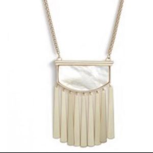 NWT Kendra Scott Gold Ellen Necklace in Ivory MOP!